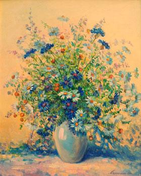 картины маслом букет цветов