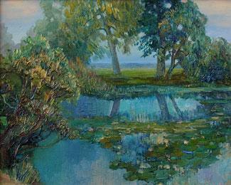 куплю картины пруд