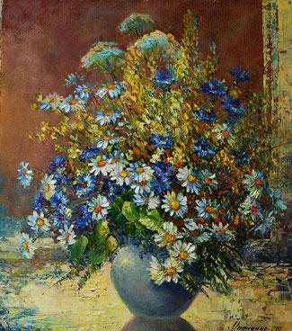купить картину в интернете мотив полевых цветов
