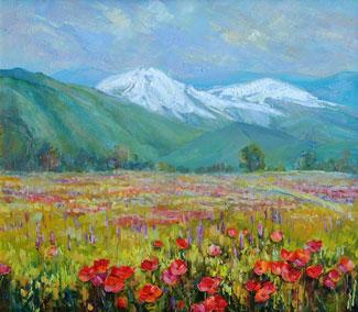 картина Весна в горах