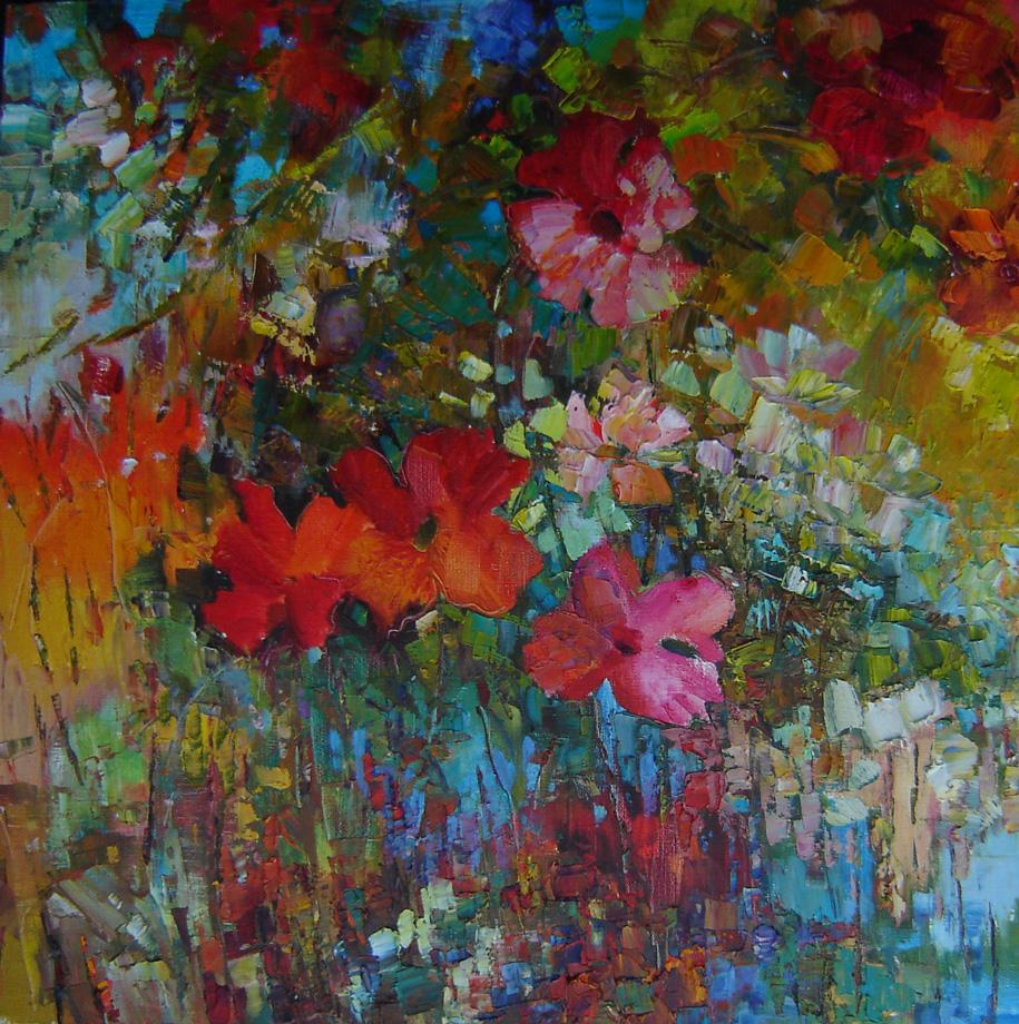 абстрактная живопись цветы