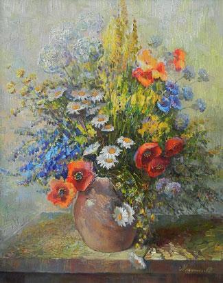 Картина Окнами в сад