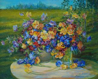 картина Очарование цветов