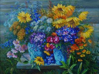 картина Летние цветы