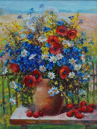 картина Цветы и клубника